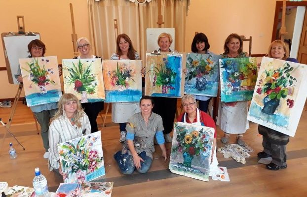 Flowers in Mixed Media – Holistic Art Workshop – Bliss!