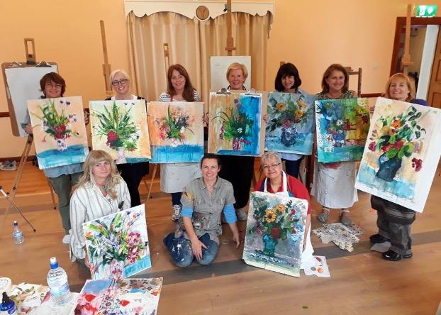 Flowers in Mixed Media – Holistic Art Workshop – Bliss!